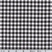 Oil Cloth Gingham Black/White Fabric
