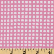 Alpine Flannel Basics Cheque Bright Pink Fabric