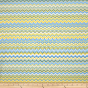 A.E. Nathan Chevron Yellow/Aqua/Royal Fabric