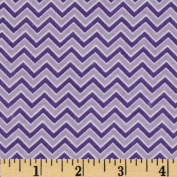 Alpine Flannel Basics Chevron Lavender Fabric