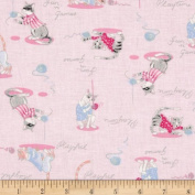 Paws & Play Playful Cats Pink Fabric