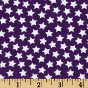 Flannel Stars Deep Purple Fabric
