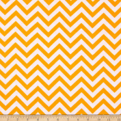 Flannel Chevron Orange/White Fabric