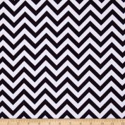 Flannel Chevron Black/White Fabric