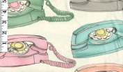 Phones By Timeless Treasures- 100% Cotton, 110cm Wide By the Yard