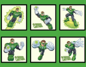110cm Wide GREEN LANTERN Cotton Fabric By The Panel