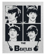 The Beatles Appliqué Quilting Square Ash Grey