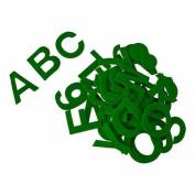 ACRYLIC FELT ALPHABET STICKERS - 5.1cm , GREEN