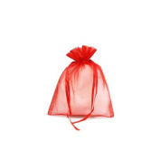 5.1cm x 6.4cm Red Sheer Organza Pouches Bag - Pck of 50