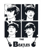 The Beatles Appliqué Quilting Square White