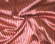 Satin Charmeuse Pin Stripe Gold & Red 110cm W By the Yard.