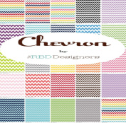 Riley Blake SMALL CHEVRON 13cm Stacker Charm Pack Fabric Quilting Squares RBD Designs 5-340-24