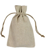 10cm x 15cm Natural Linen Favour Bags - 12 Pack