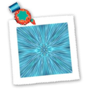 3dRose LLC Abstract Blues 25cm by 25cm Quilt, Square