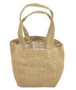 """Natural Mini Jute Tote Bags """" 6 Pack"""