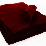 Arcrylic Craft Felt Sheet 23cm X 30cm - 24 Pcs Burgandy