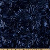 Splenda Satin Ribbon Rosette Navy Fabric