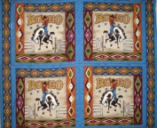 Rodeo by General Fabrics pillow panel - by 100% Cotton PANEL
