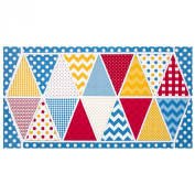 Riley Blake Holiday Banners 2 Birthday Panel Red/White/Yellow Fabric