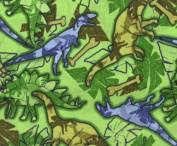Camo-saurs By General Fabrics-100% Cotton 110cm Wide By the Yard