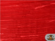 Satin Italian Crushed RED Rose 290cm Wide / Sold By the Yard