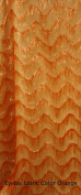 Orange Eyelash Polyester Organza Fabric with Fancy Pattern, 140cm Sold By the Yard