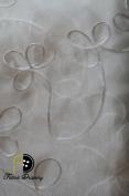 Cecilia Crystal Organza Ribbon Fabric, Colour Cream, 280cm Sold By the Yard