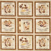 SPX Biscotti Cookie Patch Beige, 44-inch (112cm) Wide Cotton Fabric Yardage
