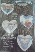 Old Tyme Quilthearts - 4 Angelheart Applique Designs - 13cm Hearts