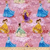 Disney Princesses Royal Debut Scenic Pink Fabric