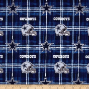 NFL Flannel Dallas Cowboys Navy/Grey Fabric