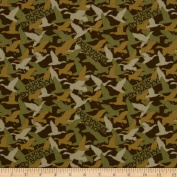 Duck Dynasty Duck Camo Brown Fabric