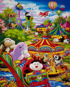 110cm Wide Pillow Pets Carnival Panel Multi Fabric By The Panel