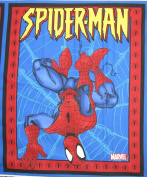 110cm Wide SPIDER-MAN Upside Down Web Cotton Fabric By The Panel