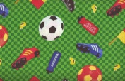 Sports Collage by Wilmington Prints - 100% Cotton, 110cm Wide