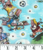 All About Laughter Fabrics By Print Concepts - 100% Cotton 110cm Wide By the Yard