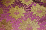 Fuchsia Jacquard Brocade Fabric with a Nice Flower Design