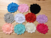 10pc 6.4cm Shabby Chiffon Flowers Fabric Flowers Embellishment