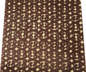 Cut -off Brown Fabric Cotton Pattern Sewing Apparel Pillow India the Yard