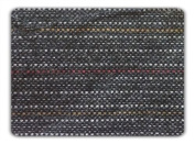 Black Wool W/red White Yellow Pinstrip Fabric 150cm By the Yard