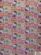 HELLO KITTY 100% COTTON FABRIC- Love - 110cm WIDTH - SOLD BTY