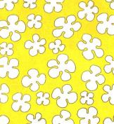 Cat Fabric - Pampered Pets - Yellow Flowers - By The Yard