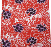 Designer Fashion Fabric Red Floral Pattern Handmade Sew Dress Curtain Pillow By The Yard