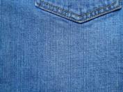 LIGHT BLUE DENIM FABRIC, NEW CUT IN FRESH BOLT MADE BY SOUTH BEACH FABRIC