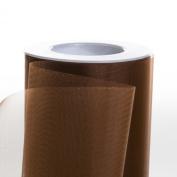 Koyal Wholesale 25-Yard Sheer Organza Fabric Roll, 15cm , Brown