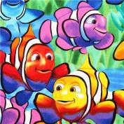 colourful exotic clown fish animal fabric USA
