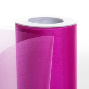 Koyal Wholesale 25-Yard Sheer Organza Fabric Roll, 15cm , Fuchsia