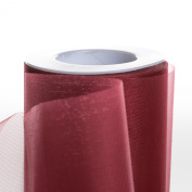 Koyal Wholesale 25-Yard Sheer Organza Fabric Roll, 15cm , Burgundy