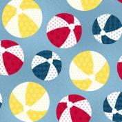 Cotton Weekend Retreat Beachballs Multi Cotton Fabric Print by the Yard