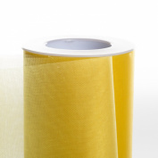 Koyal Wholesale 25-Yard Sheer Organza Fabric Roll, 15cm , Yellow